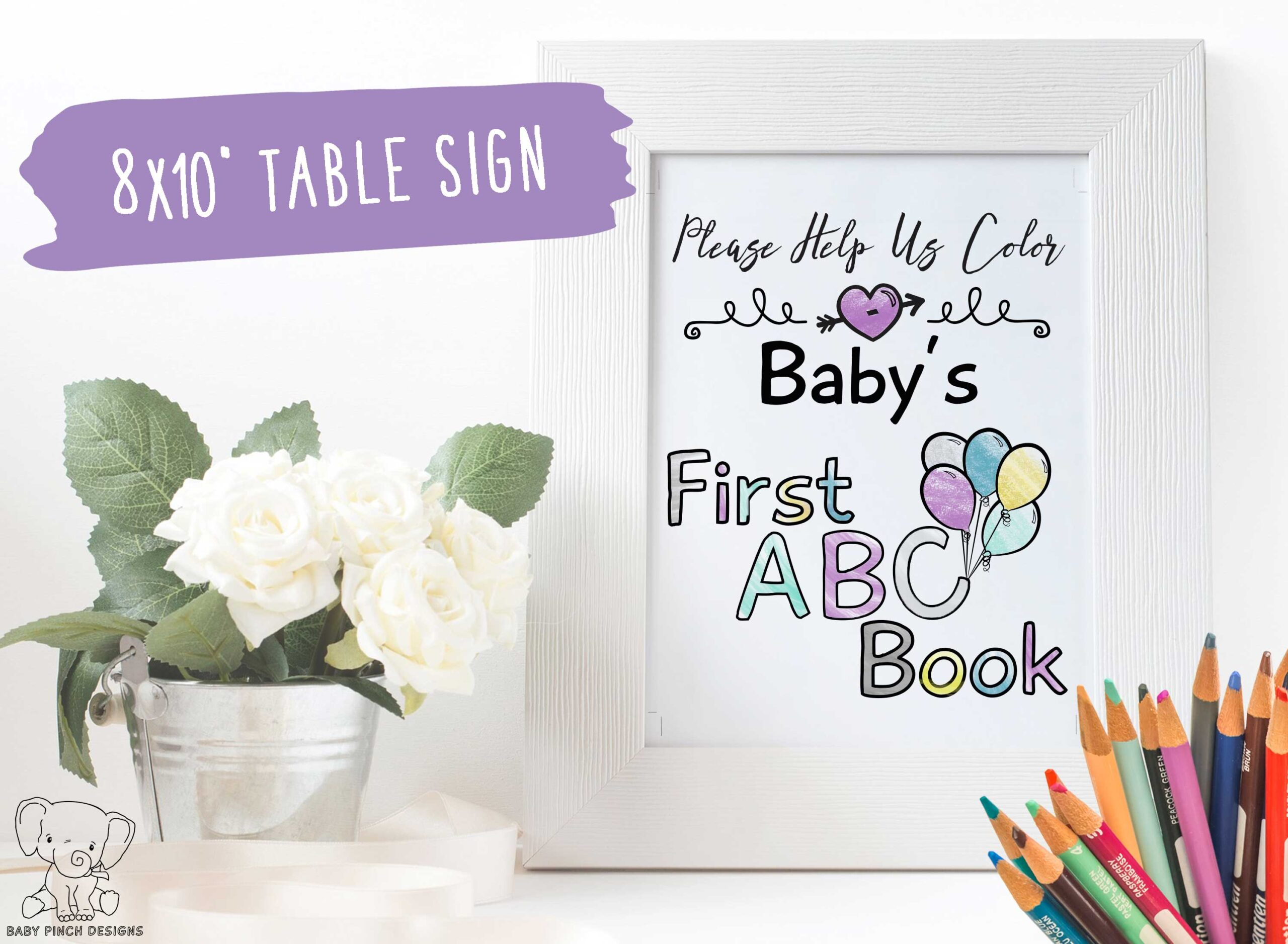 ABC Baby Shower Book
