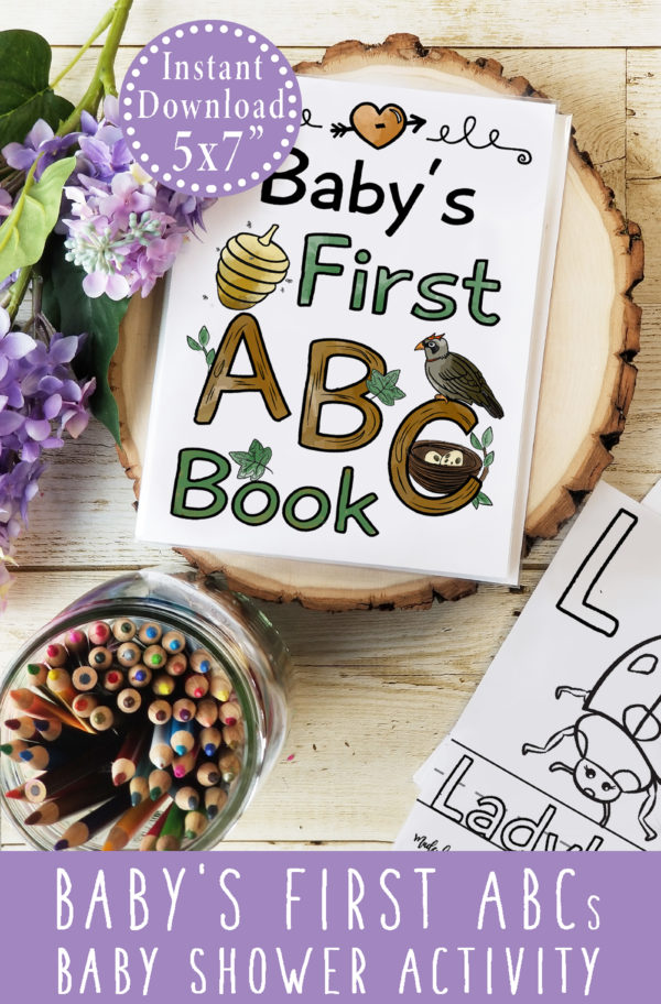 Woodland Baby Shower Book