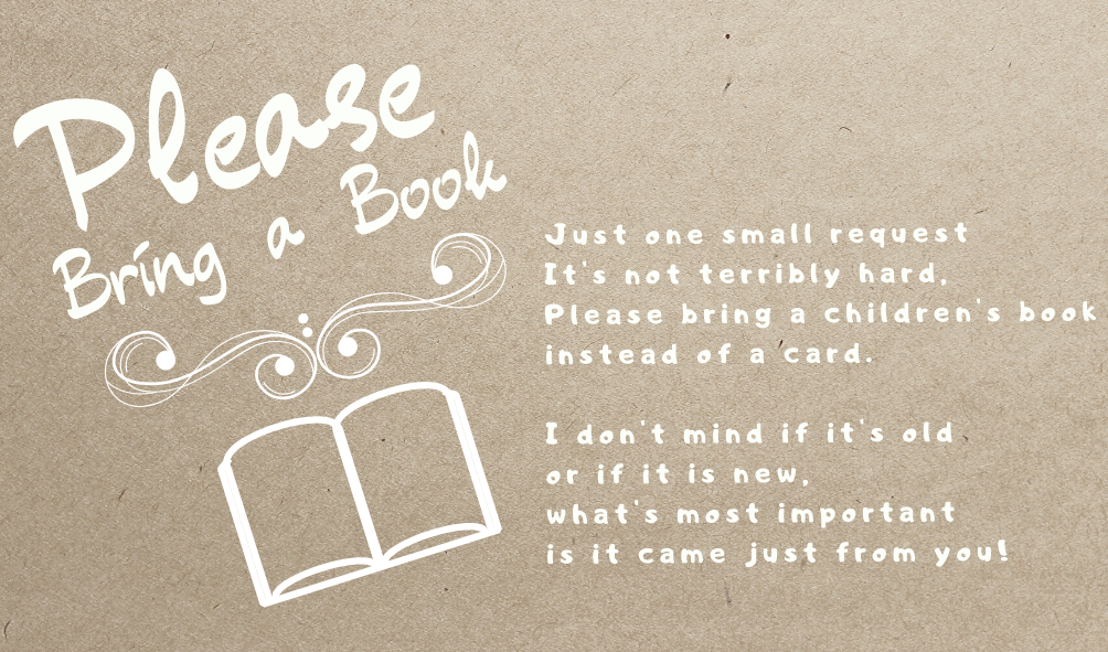 bring a book instead of a card