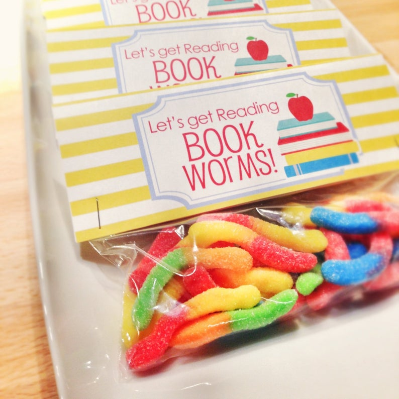 book worm baby shower favor