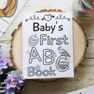 Woodland ABC Baby Shower Book