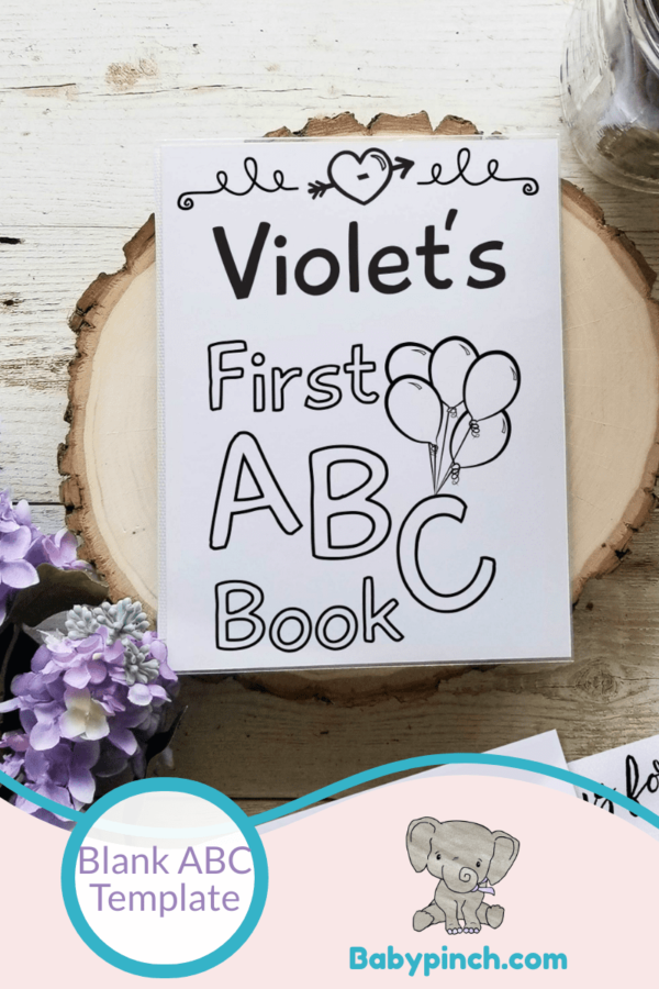 Blank ABC Book Template