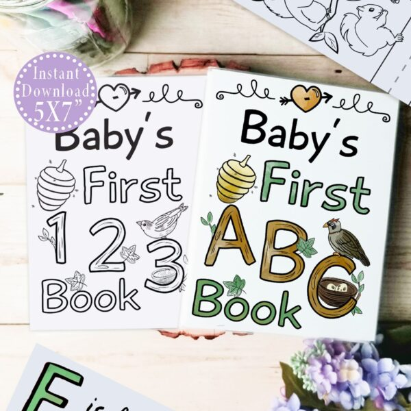 woodland abc 123 book bundle