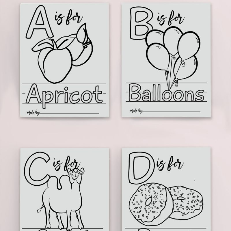 abc book baby shower